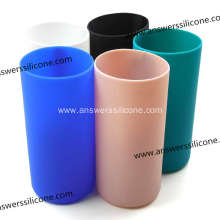 Mixed-Color Silicon Rubber Sleeve with Lid for Bottle