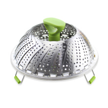 Stainless Steel Vegetable Steamer Basket With PP Handle