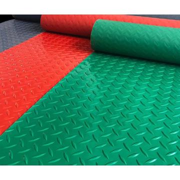 PVC anti-fatigue coin embossed flooring mat rolls