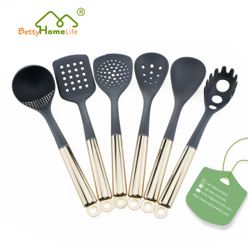 6PCS Gold Plated Stainless Steel Utensil Set