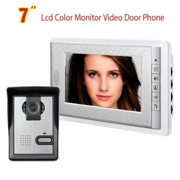 Video Doorbell System, 7 Inches Wired Video Door Phone Intercom Kit Support Monitoring, Unlock, Dual-Way Intercom for villa