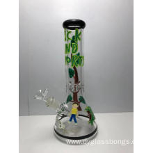 Newest Design Hand Painting Glass Beaker Bongs