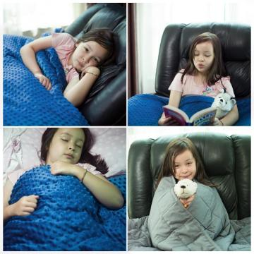 100% Polyester Kids Minky Dot Weighted Blanket