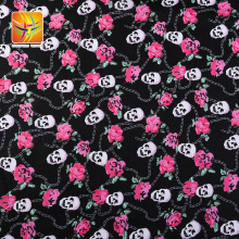 Fashionable Stretch Cotton Fabric Skull Printed