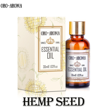 oroaroma Famous brand free shipping natural aromatherapy Hemp seed essential oil Soap materials base carrier Hemp seed oil