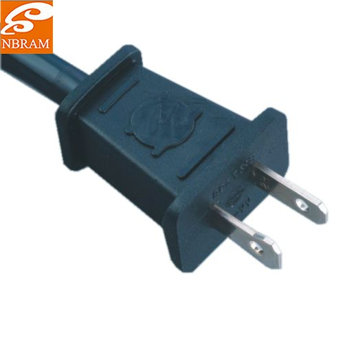 US Approval 2-Prong extension Power Cord