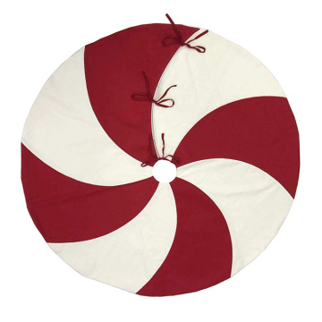 Red and white lollipop design Tree Skirt