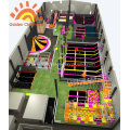 Stimulated Trampoline Structure Playground For Kids