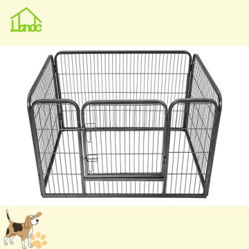 Four Panels Black Square Tube Playpen