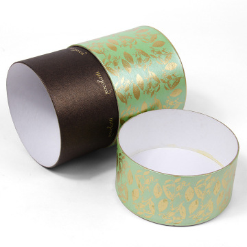 Custom Logo Printed Luxury Round Candle Boxes