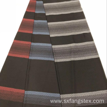 Polyester Stripe Dobby Jacquard Formal Black Abaya Fabric