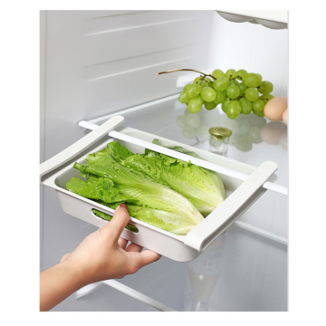 1pcs Kitchen Storage Box Case Refrigerator Food Vegetable Container Box Pull-out Drawers Fresh Spacer Layer Kitchen Organzier