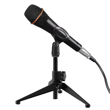 Mini Foldable Adjustable Desktop Microphone Stand Meeting Lectures Tripod MC5 Mic Clip Holder Bracket