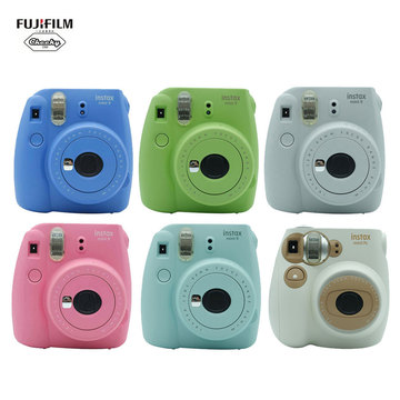 New Year Best Gift Fujifilm INSTAX Mini 9 Mini 7C Instant Camera Film Photo Camera + 10 Sheets Fujifilm Instax Mini 8 9 Film