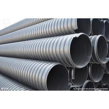 Metal reinforced PE spiral corrugated pipe