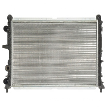 Car cooling radiator in heater radiator