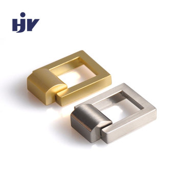 "1"" Square drop down drawer pulls in Satin Brass"