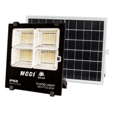 Modern smart 60W solar flood light