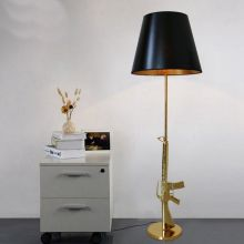 Nordic Classical AK47 Gun Lounge Floor Lamps Personality Design decoration Lamp for Bedroom Bedside Indoor Home product lamp Fix