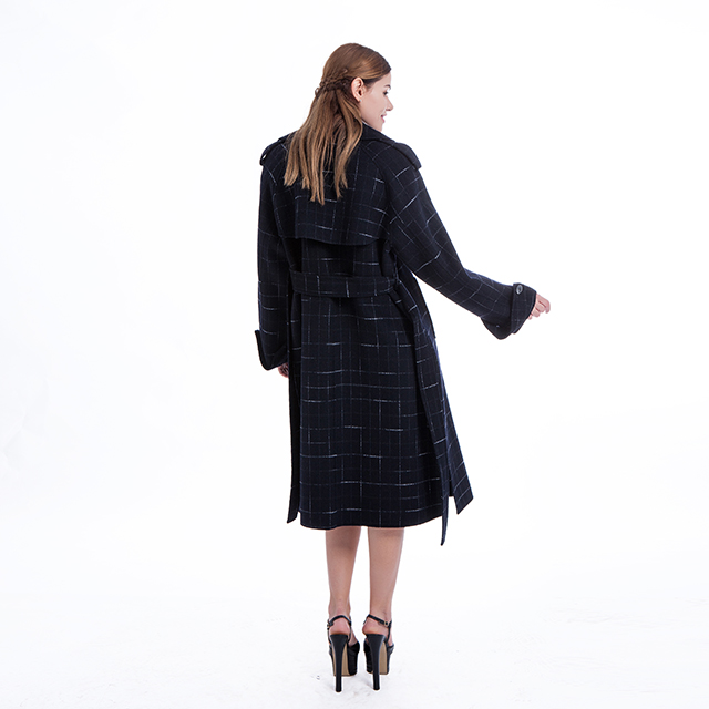 Cashmere overcoat checked