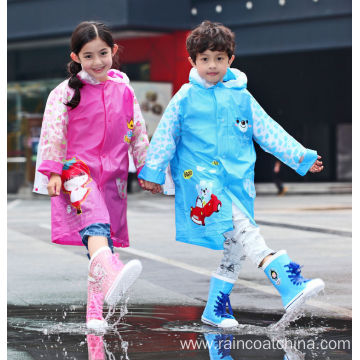 High Quality Kids Waterproof Pattern EVA Raincoat