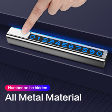 Auto Car Temporary Parking Card Phone Number Card Plate Telephone Number Auto Park Stop Automobile Accessories Car-styling