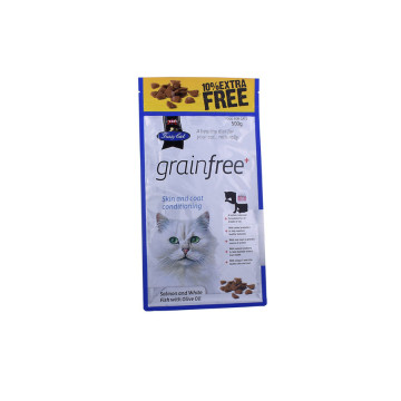 Plastic Pet Treat Flat Bottom Packaging Bag