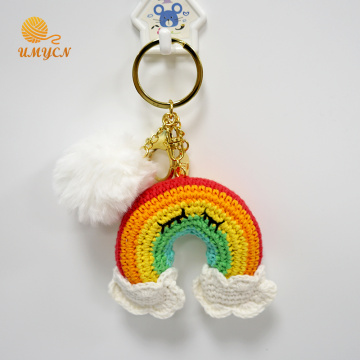 Handmade Crochet Rainbow Key Chain