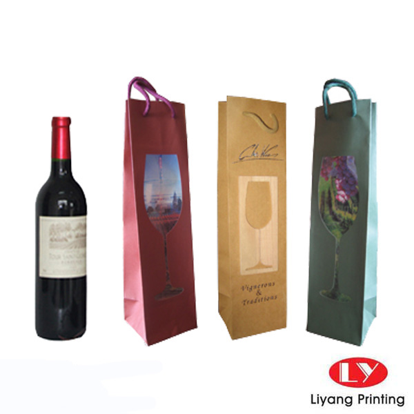 wine bag for one bottle packaging
