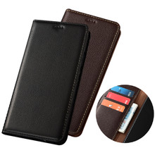 Genuine Leather Wallet Phone Case Card Pocket Holster For OPPO A53 2020O/OPPO A32 2020/PPO A31 2020 Phone Bag Magnetic Holder