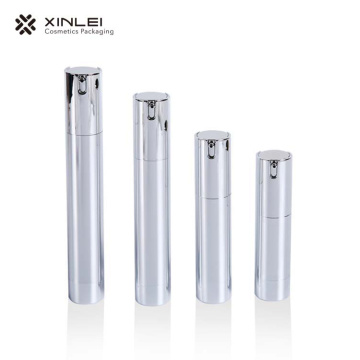 Slim 15 ML Luxury Silver Plastic Bottles