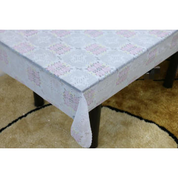 grey Printed pvc lace tablecloth by roll