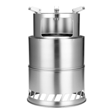Outdoor Portable Stove Windproof Wood Stoves Furnace Picnic Stainless Steel Stoves Barbecue Stoves For Hiking Camping Picnic