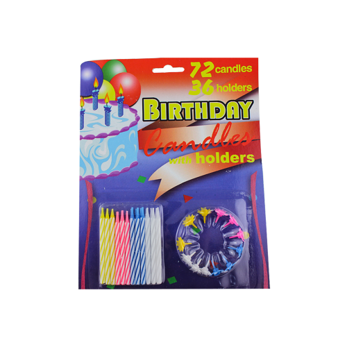 Wholesale Various Color Sprial Birthday Candles