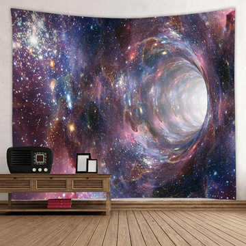 Starry Tapestry Galaxy Tapestry Night Sky Wall Hanging Star Hole 3D Printing Tapestry Psychedelic Wall Art for Living Room Bedro