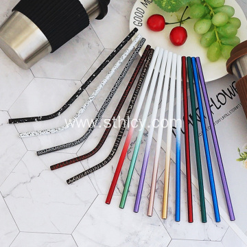 Multicolor Mirror Polish Reusable Stainless Steel Straw