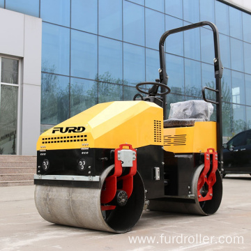Double drum vibratory soil compactor road roller FYL-890