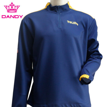 Navy blue half zip sweatsuit