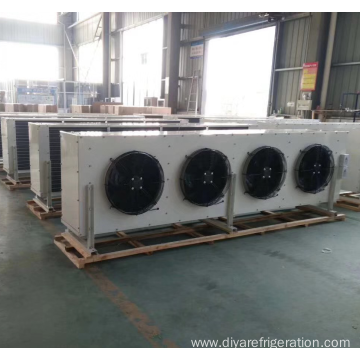 Evaporative low temperature condensing unit air cooler