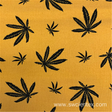 Light Yellow Flower Printed NR Bengaline Dress Fabrics