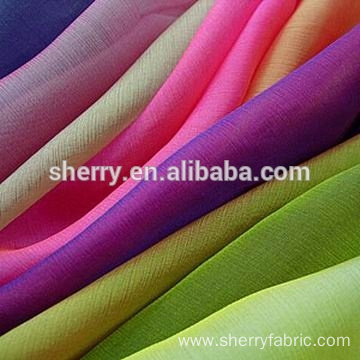 100% polyester 30d chiffon with high twist good fall fabric