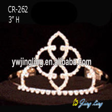 3 Inch cheap wholesale crystal tiaras pageant crowns