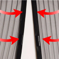 Manetic stripe curtain fly screen for door
