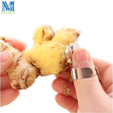 Meltset Stainless Steel Alloy Garlic Ginger Peeler Kitchen Gadget Chinese Chestnut Cutter Zester Fruit Tools