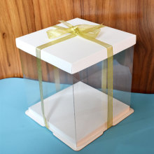 Clear birthday cake box
