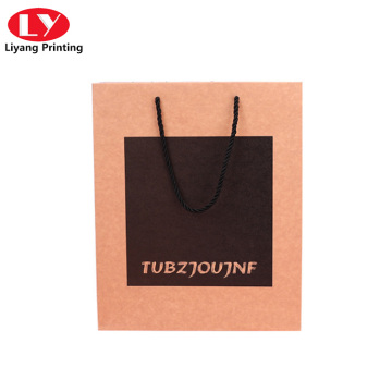 Foldable handle kraft paper bag with printed