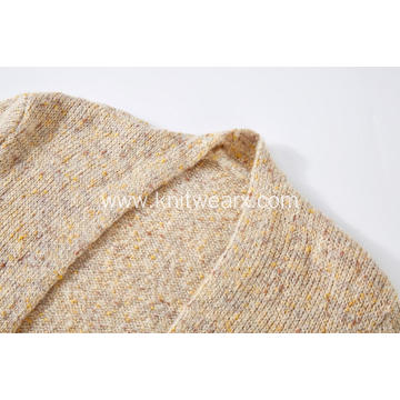 Women's Knitted Colour Neps Open Front Pocket Cardigans