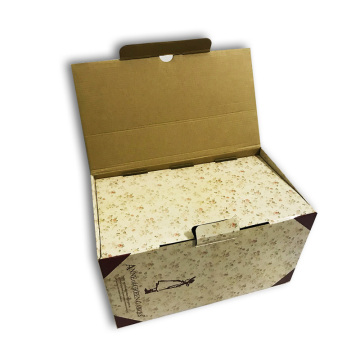 Corrugated box white with printing wholesale