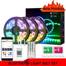 BESTOPE Bluetooth LED Strip Lights RGB APP Smart Strip Light SMD 5050 Music Light Strip Flexible Tape DC 12V Control