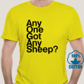 5565A Any One Got Any Sheep Settlers Of Catan T Shirt Men Cotton T-Shirts Crewneck Board Wheat Sheep Wood Game Tee Short Sleeve